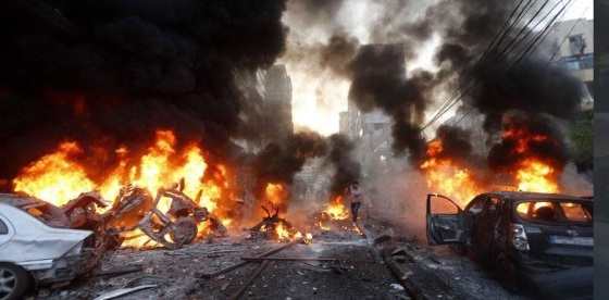 Car Bomb in South Beirut  January 2014